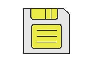 Save button color icon