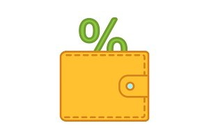 Money saving color icon
