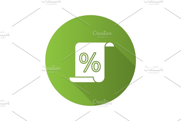 Paper scroll with percent icon