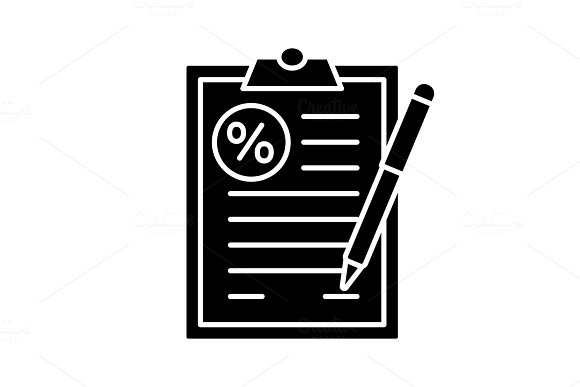 Loan agreement glyph icon