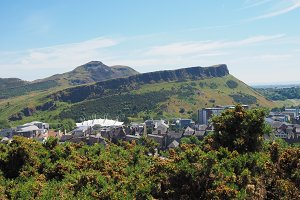 Arthur's Seat seen from Calton Hill