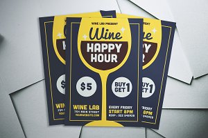 Wine Happy Hour Flyer