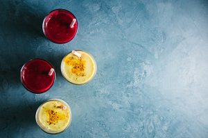 Golden yogurt milk with turmeric