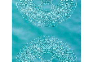 Blue water tribal background with