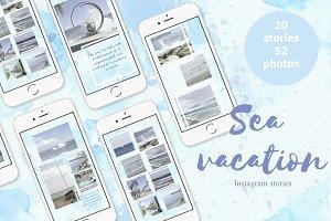 Sea vacation instagram Stories