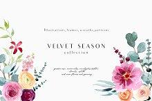 Velvet season - graphic set