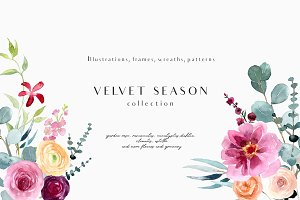 Velvet season - graphic set