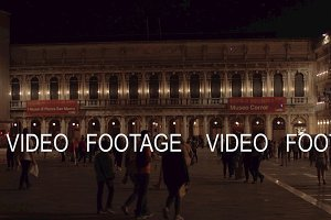 Night view of Piazza San Marco with