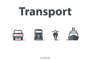 Transport 16 icons