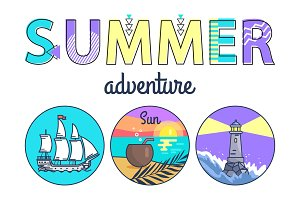 Summer Adventure Promo Banner with