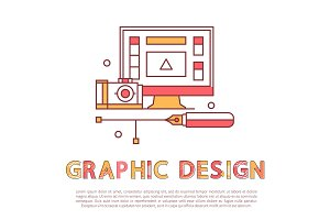 Graphic Design Poster and Text