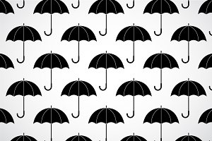 Black and white umbrellas pattern
