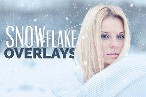 10 Snowflake Photo Overlays