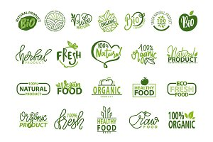 Natural Bio and Organic Food Vector