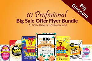 10 Big sale Offer Flyer Bundle