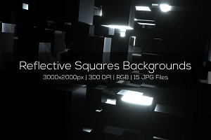 Reflective Squares Backgrounds