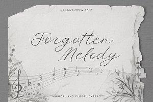 Forgotten Melody Font + EXTRAS