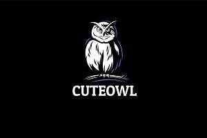 Owl Logo. Cute Bird Logo