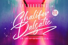 Chalifor Dalsatic SVG FONT by  in Script Fonts