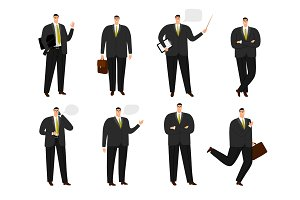 Vector businessman character. Office