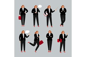 Businesswoman character. Young