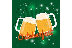 Oktoberfest beer poster. Octoberfest