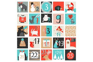 Advent calendar. December countdown