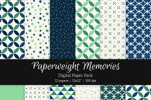 Patterned Paper - Northern Lights