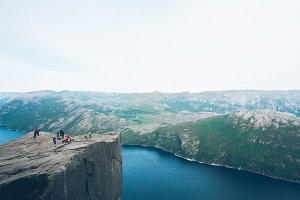 Norway preikestolen tourists