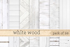 White Wood Digital Paper