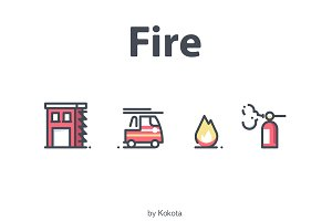 Fire 21 icons