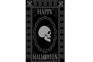 Happy Halloween skull background