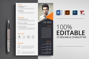 Creative Design Word CV Resume