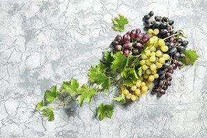 Grape vine green leaves Food