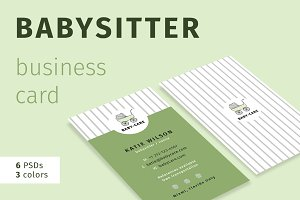 Babysitter Business Card