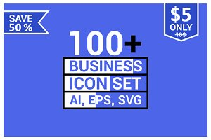 100+ Business icons.