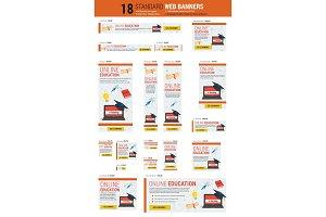 Standard size web banners - Online