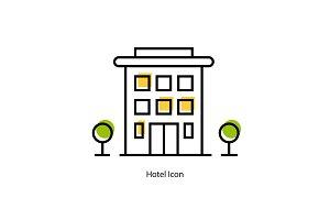 Line icon - Hotel Icon