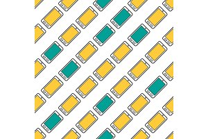 Seamless pattern with colored smart