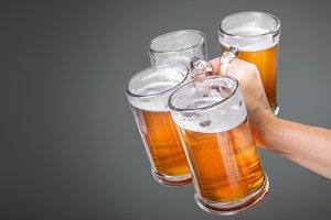Oktoberfest concept - hand holding