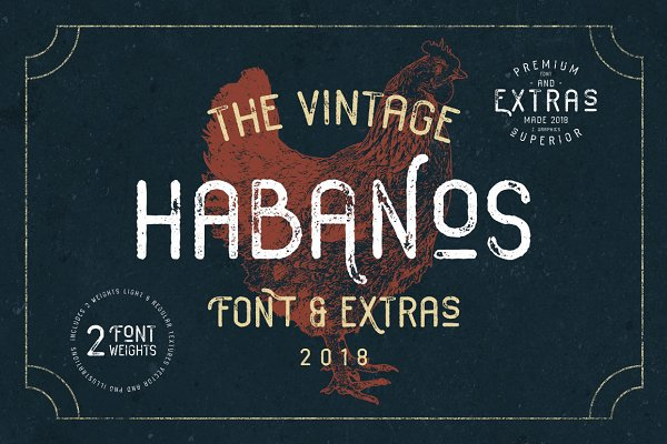 Fonts: Zeppelin Graphics - Habanos Retro Font