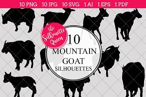 Mountain goat Silhouette Vector