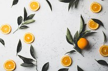 Orange slices and fresh orange tree by  in Food & Drink