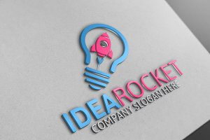 Idea Rocket /Logo Template