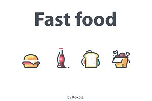 Fast food 20 icons