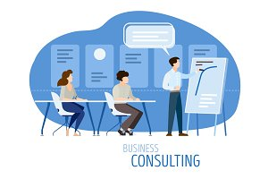 Modern business consulting flat