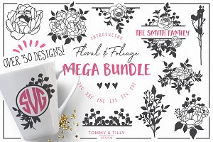Floral Bundle -Cut File SVG Clipart