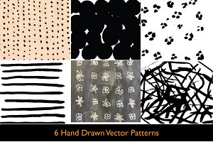 6 Hand Drawn Patterns