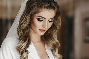 Charming blonde bride