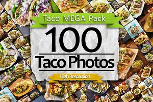 100 Taco Photo MEGA Pack